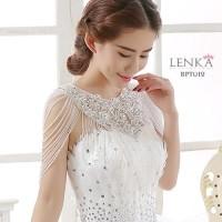 Bolero Lace Mutiara Pesta Wanita Putih l Lenka - BPT012