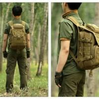 Jual ransel kulit kanvas pria wanita backpack tactical army laptop kuliah Murah