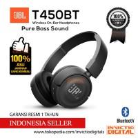 JBL Wireless On-Ear Headphone T450BT - Black | JBL T450 BT | T450 BT