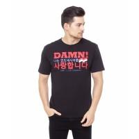 DAMN! I LOVE INDONESIA KAOS PRIA KOREA BLACK