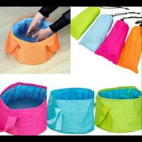 Jual PANACHE Portable Folding Wash Basin Water Bag 15L Travel, Camping etc Murah