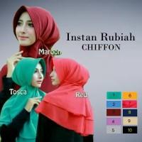 Jual Kerudung / Hijab / Jilbab Instan Rubiah Chiffon (Pet Antem) Murah