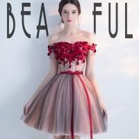 Gaun pesta impor gaun selutut midi gown gaun sweet seventeen NW-033
