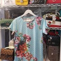 Kaos dress import murah obral motif lengan pendek santai baju artis