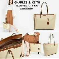 NEW ARRIVAL CK TEXTURED TOTE BAG CHARLES AND KEITH ORIGINAL