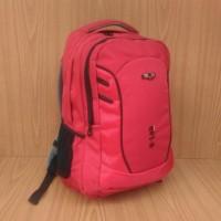Tas Ransel Sport Q-Lab 168102 Merah Red Embos Raincover Ndd93