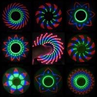 I LOVE U -NEW Metalik Fidget Spinner Lampu Led Gambar Flash 3D Pattern