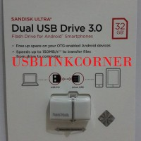 NEW Flashdisk Sandisk Ultra Usb 3 0 32gb Dual Drive Otg White TID715