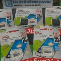 Jual JUAL MURAH Micro SD SanDisk 32GB Class10 80 MB s ULTRA New 32 GB mic Murah