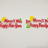 Jual Hiasan Kue Merry Christmast / Tusukan Kue Natal ( 6 pcs ) B Murah