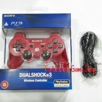 Stick / Stik Sony PS3 Wireless OP Merah + Kabel USB Vaio