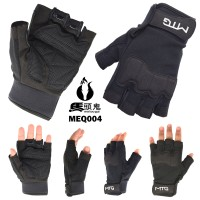 Sarung Tangan Rider Kulit MTG004 Gloves Pendek Hitam/ Pengendara Motor