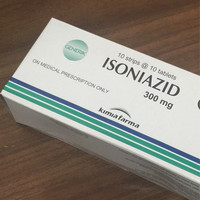 Isoniazid 300 mg INH 100's strip box