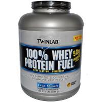 (Dijamin) TWINLAB 100% WHEY PROTEIN FUEL CHOC 5 LB Protein Otot