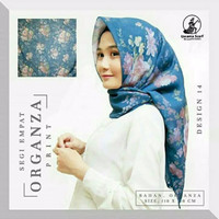Jilbab Organza Silk 6 By Gerai Fashion Modern Iwapi