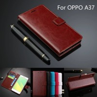 Casing Leather Kulit FLIP COVER WALLET Oppo F1 A35/ A37 NEO 9 Case HP