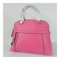 Tas Shoulder Bag Furla Dome Medium Pinky Leather Authentic Original