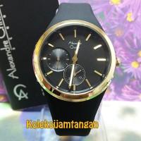JAM TANGAN WANITA ALEXANDRE CHRISTIE 2663 GOLD HITAM ORIGINAL