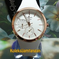 JAM TANGAN WANITA ALEXANDRE CHRISTIE 2663 ROSE GOLD WHITE ORIGINAL