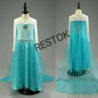 Jual Dress / Gaun / Kostum Elsa Frozen 5 Murah