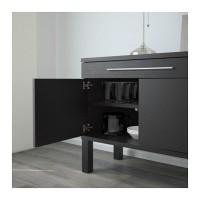 GO SEND IKEA BJURSTA Lemari Bufet 155x68 cm, cokelat kehitaman
