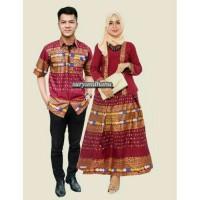 Couple batik sarimbit kebaya kartini baju pesta pasangan seragam 414
