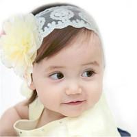 Jual Bando Anak Headband Bayi Bunga Besar Renda Murah