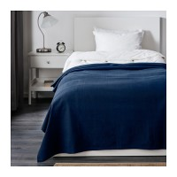 Penutup Tempat Tidur IKEA INDIRA Bedspread 150cmx250cm Biru Tua Promo