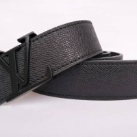 Gesper Ikat Pinggang Belt Lv Taiga Hitam High Quality Premium