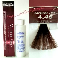 Loreal Majirel Hair Color Copper Mahogany Brown No.4.45 50ml+75ml