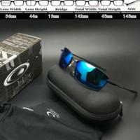 kacamata Oakley Whisker Square Black Biru Polarised