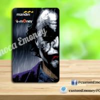 kartu mandiri emoney 40 rb custom etoll Joker batman 1s