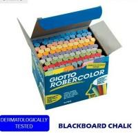 Blackboard chalk/kapur warna Giotto isi 100 lebih hemat