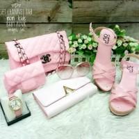 Harga tas murah tas wanita paket tas fashion lokal tas pesta wedges bb | Pembandingharga.com