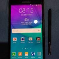 Samsung galaxy note 4 Black Second kondisi 90% masih oke banget