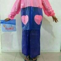 harga New Jas Hujan Wanita Jaket Rok Polkadot Tiara ( Model Rok Muslimah ) Tokopedia.com