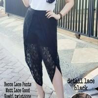 [becca lace pants RO] celana wanita lace good hitam