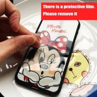 New iPhone 6 6s Mickey Minnie Mirror Disney Couple Soft Case Casing HP