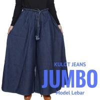 Jual Celana Panjang Kulot Wanita Muslimah JUMBO Bahan Jeans Grosir - SH25 Murah