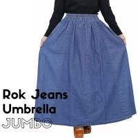 Jual Rok Panjang Jeans Payung Jumbo - Rok Jumbo Jeans - Rok Payung - SH07 Murah