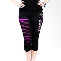 Ronaco T001 Zumba Pants Celana Olahraga Wanita Black Pink