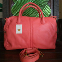 Fossil Erin Satchel Watermelon - Tas Branded Ori / Original
