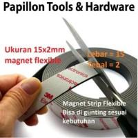 Magnet Strip Flexible 15x2mm Sticker 3M Kulkas Kasa Nyamuk Kerajinan