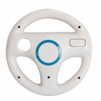Nintendo Wii Steering Wheel White Wii Remote Controller not included