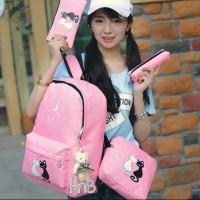 Harga grosir tas ransel anak sekolah sd laki perempuan paket 4in1 cats | Pembandingharga.com