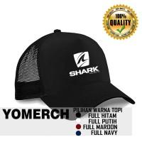 Topi Trucker SHARK HELMETS Polos keren Yomerch 42a8f0c30c