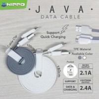 BARU Hippo kabel java lightning 100cm 2,4A kabel data for iphone5 ,6