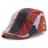 Topi Baret Kasual Red