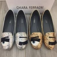 Sepatu Chiara Ferragni Flat Glitter Flirting Big Eyes Seprem S7-523