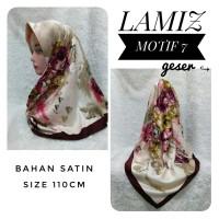Jual Hijab Segiempat Satin Lamiz by Azzura Motif 7 - Jilbab Scarf Murah Murah